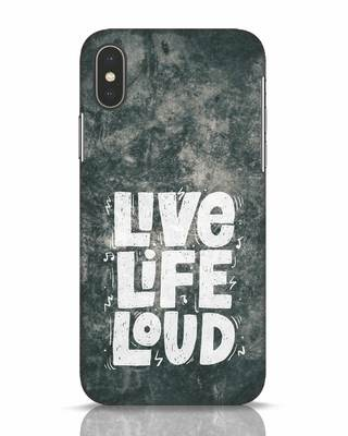 Shop Live Loud Music iPhone X Mobile Cover-Front