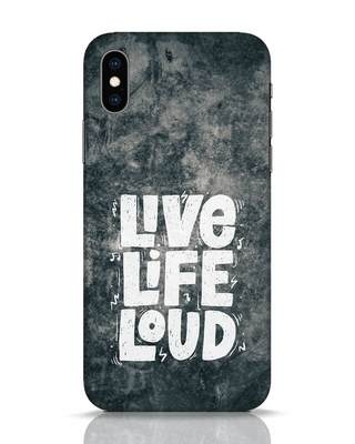 Shop Live Loud Music iPhone XS Mobile Cover-Front