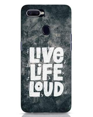 Shop Live Loud Music Oppo F9 Pro Mobile Cover-Front