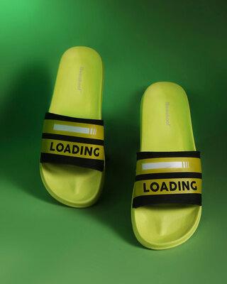 Shop Load Game Printed Lightweight Men Sliders-Front