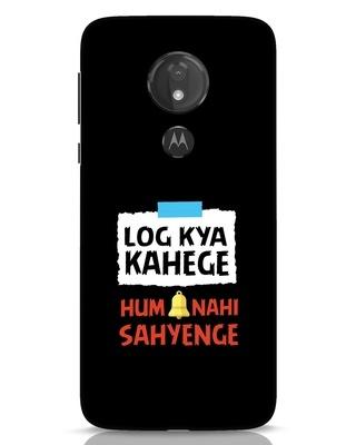 Shop Log Kya Kahenge Moto G7 Power Mobile Cover-Front