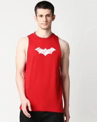 Shop Logo Batman Deep Armhole Vest (BML) (GID)-Front