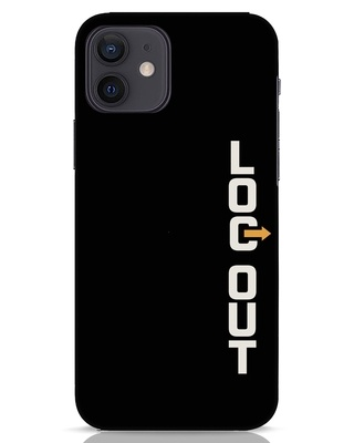 Shop Logout iPhone 12 Mobile Cover-Front
