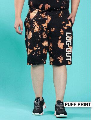 Shop Logout Tie & Dye Shorts-Front