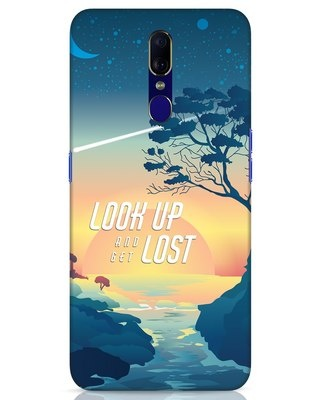 Shop Look Up And Lost Oppo F11 Mobile Cover-Front