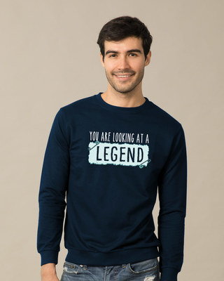 Shop Looking At A Legend  Sweatshirt-Front