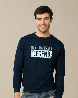Shop Looking At A Legend  Sweatshirt-Front