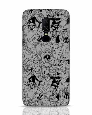 Shop Looney Toons Family OnePlus 6 Mobile Cover (LTL)-Front