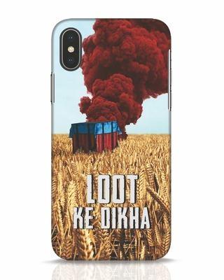 Shop Loot Ke Dlkha iPhone X Mobile Cover-Front
