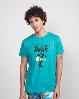 Shop Lost In The Guitar Half Sleeve T-Shirt-Front