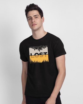 Shop Lost In Time Half Sleeve T-Shirt-Front