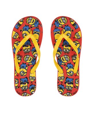 Shop Lots of Minion Printed Mens Flip-flop-Front