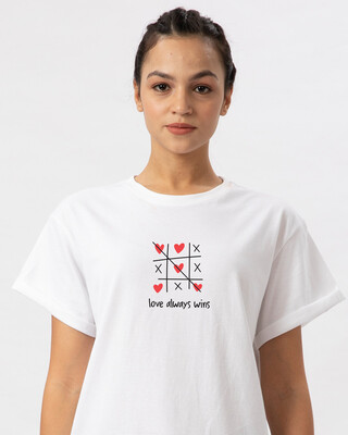 Shop Love Always Wins Boyfriend T-Shirt-Front