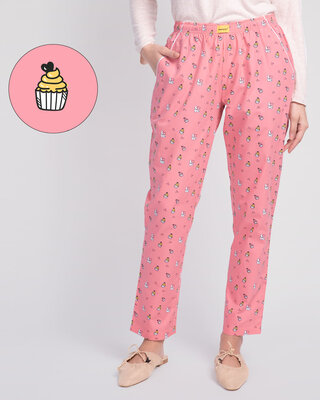 Shop Love Cupcake All Over Printed Pyjama-Front
