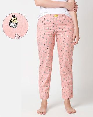 Shop Love Cupcake All Over Printed Pyjama-Front