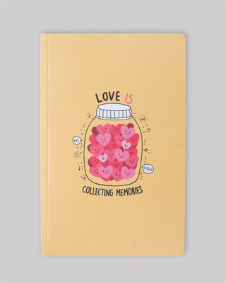 Shop Love Is Collecting Memories Notebook-Front