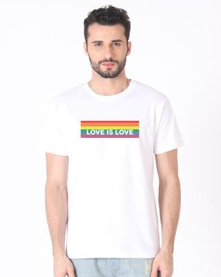 Shop Love Is Love Half Sleeve T-Shirt-Front