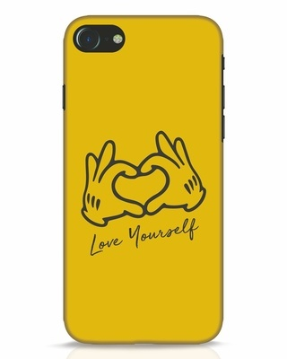 Shop Love Your Self Hand Gesture iPhone 8 Mobile Cover-Front