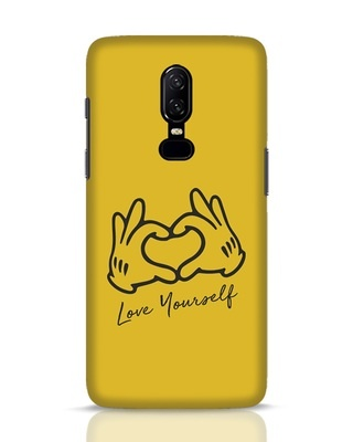 Shop Love Your Self Hand Gesture OnePlus 6 Mobile Cover-Front