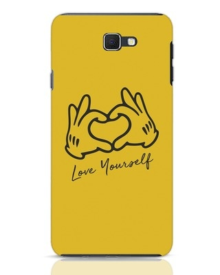 Shop Love Your Self Hand Gesture Samsung Galaxy J7 Prime Mobile Cover-Front