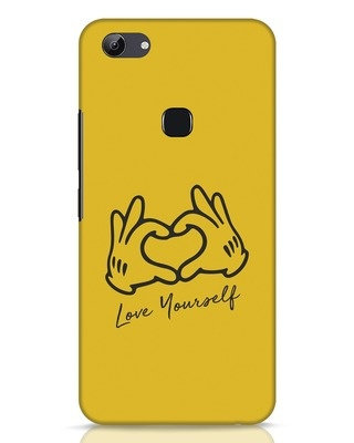 Shop Love Your Self Hand Gesture Vivo Y83 Mobile Cover-Front
