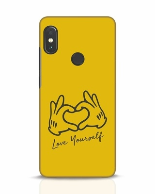 Shop Love Your Self Hand Gesture Xiaomi Redmi Note 5 Pro Mobile Cover-Front