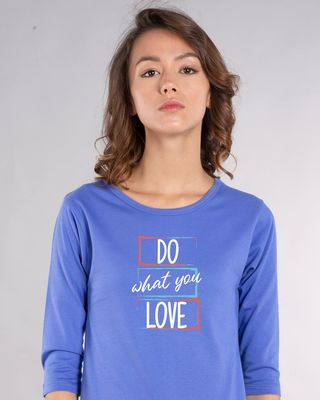 Shop Love Your Work Round Neck 3/4th Sleeve T-Shirt-Front