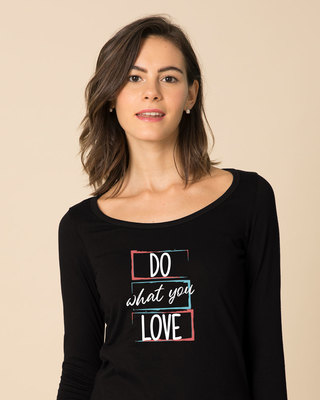 Shop Love Your Work Scoop Neck Full Sleeve T-Shirt-Front
