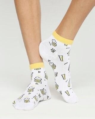 Shop Lover of Beer Ankle Length Socks-Front