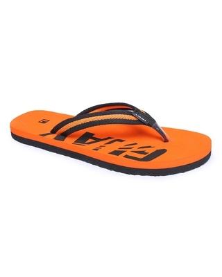 Shop LYVI Guay Orange Color Casual Flip-Flop's for Men-Front