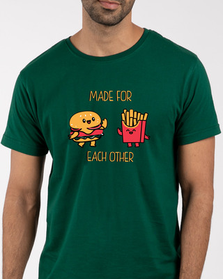 Shop Made For Each Other  Half Sleeve T-Shirt -Front