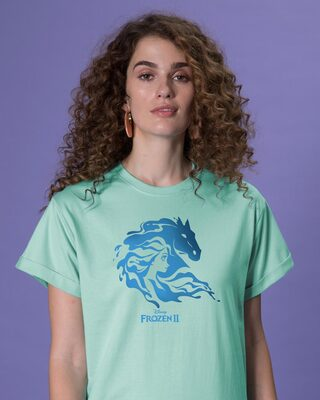 Shop Magical Elsa Boyfriend T-Shirt (FROZEN)-Front