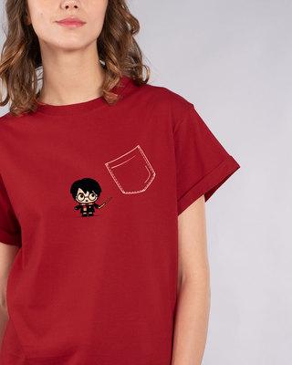 Shop Magical Pocket Boyfriend T-Shirt (HPL)-Front