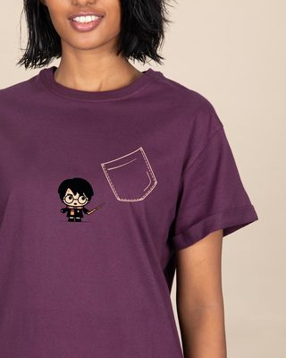 Shop Magical Pocket Boyfriend T-Shirt (HPL)-Front
