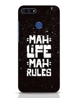 Shop Mah Life Mah Rules Huawei Honor 7A Mobile Cover-Front