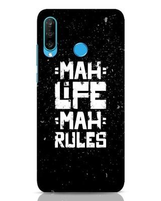 Shop Mah Life Mah Rules Huawei P30 Lite Mobile Cover-Front