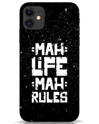 Shop Mah Life Mah Rules iPhone 11 Mobile Cover-Front