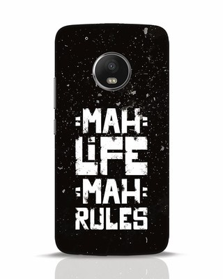 Shop Mah Life Mah Rules Moto G5 Plus Mobile Cover-Front