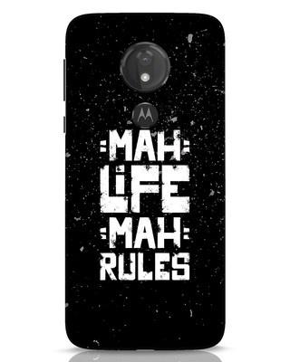 Shop Mah Life Mah Rules Moto G7 Power Mobile Cover-Front