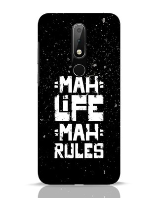 Shop Mah Life Mah Rules Nokia 6.1 Plus Mobile Cover-Front