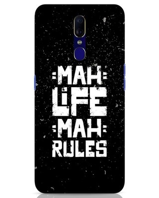 Shop Mah Life Mah Rules Oppo F11 Mobile Cover-Front