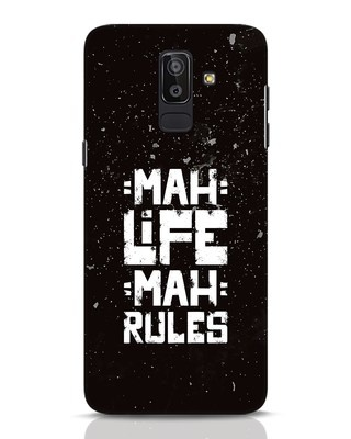 Shop Mah Life Mah Rules Samsung Galaxy J8 Mobile Cover-Front