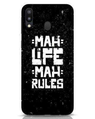 Shop Mah Life Mah Rules Samsung Galaxy M20 Mobile Cover-Front