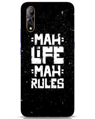 Shop Mah Life Mah Rules Vivo S1 Mobile Cover-Front