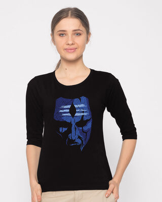 Buy Mahakal Round Neck 3/4th Sleeve T-Shirt Online India @ Bewakoof.com