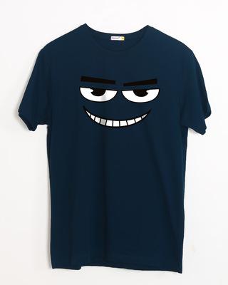 Shop Major Dead Eyes Half Sleeve T-Shirt-Front