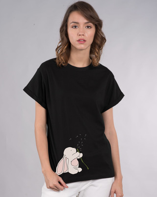 Shop Make A Wish Bunny Boyfriend T-Shirt-Front