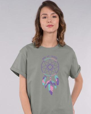 Shop Make Life Colorful Boyfriend T-Shirt-Front