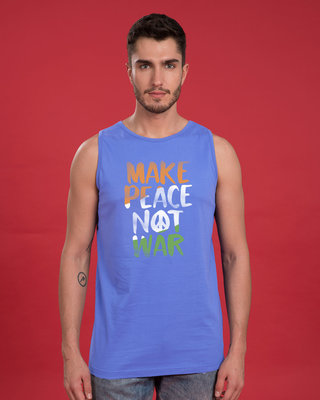 Shop Make Peace Tricolor Vest-Front