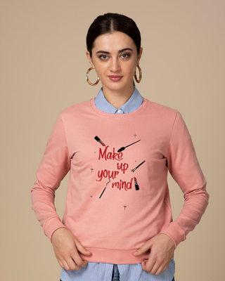 Shop Make Up Your Mind Fleece Sweater-Front